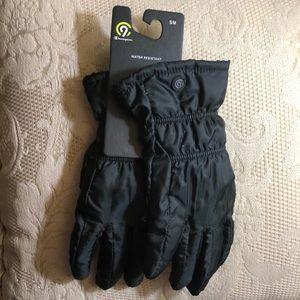 Women gloves, Champion brand, size M, black.